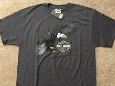 Harley Davidson Swooping Eagle Gray Shirt Nwt Men's Large