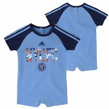 Adidas MLS Infant New York City FC Freekick Short Sleeve Romper