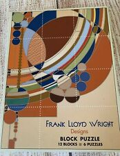 Frank Lloyd Wright Designs Block Puzzle Pomegranate Kids 12 blocks/6 puzzles