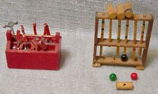 Doll House Miniature Tool Carrier with Eight Tools & Croquet Set