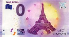 75007 Tour Eiffel 4, N° de la 2ème liasse, 2018, Billet 0 € Souvenir