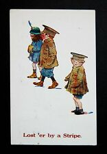 1918 WW1 Postcard Bristol Rd Northfield Birmingham B31 Soldier Lost By A Stripe