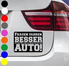 WD Autoaufkleber FRAUEN FAHREN BESSER AUTO! Tuning Aufkleber Sticker Sprüche BMW