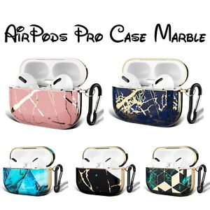 AirPods Pro Case Marble Cover For Apple AirPods Pro 3rd Generation + Hook Clip