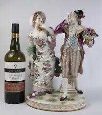 Ludwigsburg German porcelain figure group  c1910. Stunning table centrepiece.