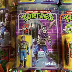 Super7 TMNT Teenage Mutant Ninja Turtles Reaction Figure  busted foot soldier