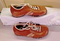 Skechers LUG Brown Leather Lace Up Athletic Sneakers Walking Women's Shoes 6M 36