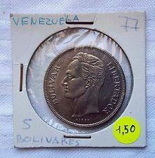 MONEDAS DEL MUNDO Venezuela 1977 5 Bolivares