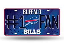 Buffalo Bills #1 Fan Auto Car Truck Metal License Plate Tag New