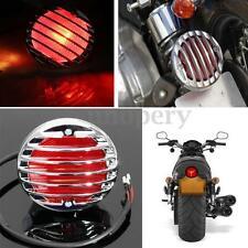 Motorcycle Grill Tail Brake Light Lamp for Harley Bobber Chopper Cafe Racer Rat