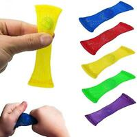 5Pcs Fidget Squishes Autism Stress Toys Kids Anxiety ADHD Relief Marble Mesh