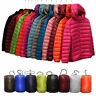 Womens Winter Warm Down Jackets Coat Quilted Hooded Ultra Light Outwear Puffer