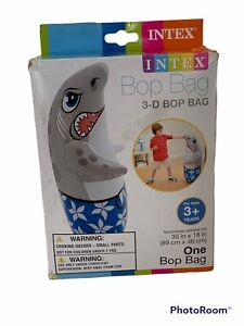 Intex inflatable 3-D bop bag Shark  Vintage 2012