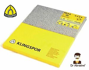 Wet and Dry Sandpaper Klingspor Sheets Sand Paper Waterproof GRIT 60-7000