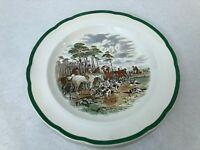 """Vintage Spode J.F. Herring The Hunt """"The Death"""" Dinner Plate, 10 3/8"""" D"""