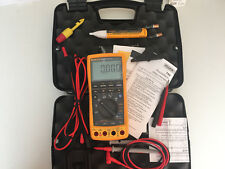 EXCELLENT FLUKE 789 PROCESS METER WITH LEADS +STORAGE CASE AND MORE! SN:23230100