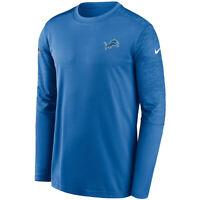 New 2020 Detroit Lions Nike Sideline Coaches UV Performance Long Sleeve T-Shirt