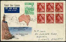 1953 AUSTRALIA 3 1/2d Red QE II(Wmk) FDC