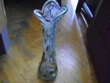 Flowers Vase Art Glass Hand Made 70' Jarosław