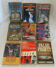 Lot of 9 Vintage PENGUIN CRIME Paperback BOOKS Murder MYSTERY Lawrence LANGTON +