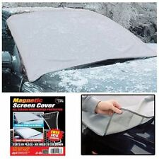 MAGNETIC CAR WINDSCREEN COVER ICE FROST SHIELD SNOW PROTECTOR SHADE+ ICE SCRAPER