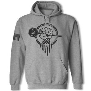 Flagger sweatshirt hoodie construction traffic control flagger superhero hoodie