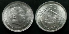 ESTADO ESPAÑOL . 50 PESETAS DE 1957 . ESTRELLA 69 , SC- . TROQUELADA