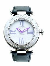 Gio Monaco Women's 781A-F Mandolino White Dial Musical Leather DIAMONDS Watch