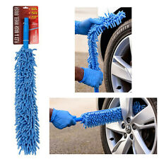 FLEXIBLE Xtra Long Mircofibre Noodle Chenille Alloy Wheel Cleaner Car Wash Brush