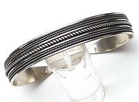 Alter 900 Silber Armreif Kordelmuster - 1 cm breit - 40er-60er Jahre - A 634