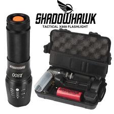 8000lm Linterna táctica genuina Shadowhawk X800 L2 LED Zoomable militar antorcha