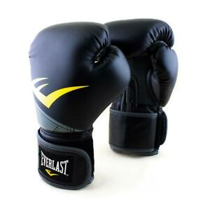 Everlast 16oz. Pro Style Advanced Training Boxing Gloves in Black/Silver