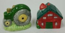 Colorful Barn and Tractor Salt and Pepper Shaker Set - Euc Jdy Inc.