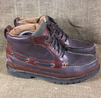 LL Bean Men's 11.5 D Allagash Bison Leather Handsewn Casual Chukka Boots