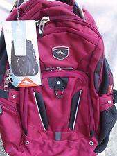 "High Sierra Elite Backpack Dark Red Business Pack for 17"" Laptop & Tablet NEW"