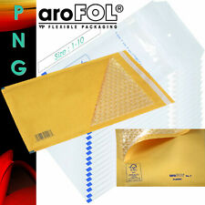 More details for genuine arofol white bubble jiffy padded envelopes mailers bags - all sizes!
