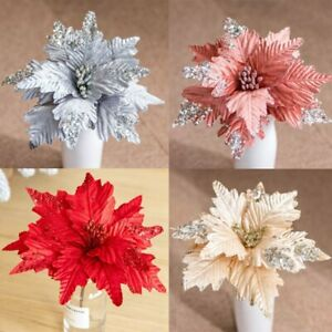 2021 Christmas Tree Sequins Large Flower Hanging Xmas Ornament Family Decor Gift