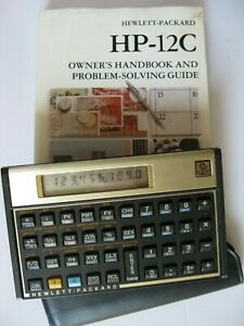 HEWLETT PACKARD HP-12C FINANCIAL CALCULATOR WITH BOOK