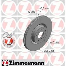 2x ZIMMERMANN Brake Disc COAT Z 110.2207.20