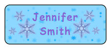 30 personalized winter, frozen name tag stickers, tags, school supply labels