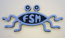 Flying Spaghetti Monster FSM Atheist Emblem Car Plaque Decal Sticker Pastafarian