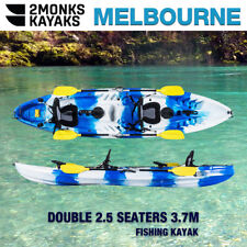 Fishing Kayak Canoe 2.5 Seaters Family 3.7M,Rod Holders Seats Paddles Melbourne