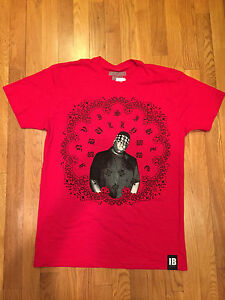 "NEW Invisible Bully New York ""War Paint"" NOTORIOUS BIG Men's Red T - Shirt"