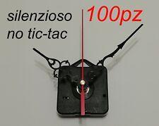 100pz MECCANISMI movimento OROLOGIO SILENZIOSO parete muro meccanismo clock top