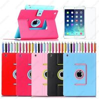 Hybrid Color 360 Rotating PU Leather Case Smart Cover Stand For iPad Air 2