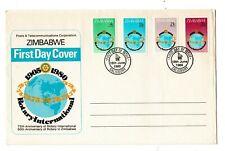 1980 Zimbabwe 75th Anniv of Rotary International set of 4 on FDC Salisbury cds