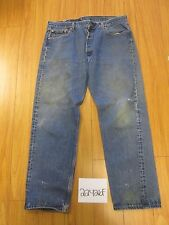 levi 501 feather destroyed grunge jean tag 42x34 Meas 37x30.5 22426F