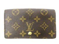 Auth Louis Vuitton Monogram Porte Monnaie Billets Tresor M61730 Wallet 92019