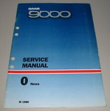 Service Manual Saab 9000 News Electrical Body Baujahre 1986 Werkstatthandbuch