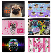 Personalised Pug iPad Case Cover Initial Custom Girls Dog Gift Apple All Models